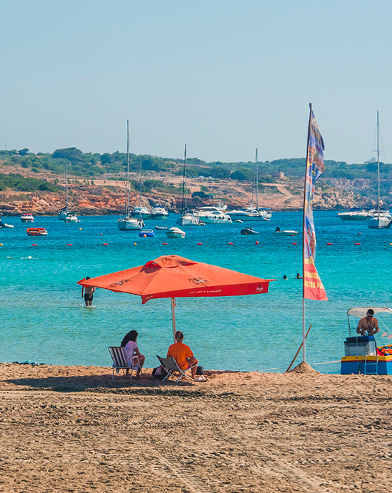Sandy Beach Mellieha Bay Best Malta