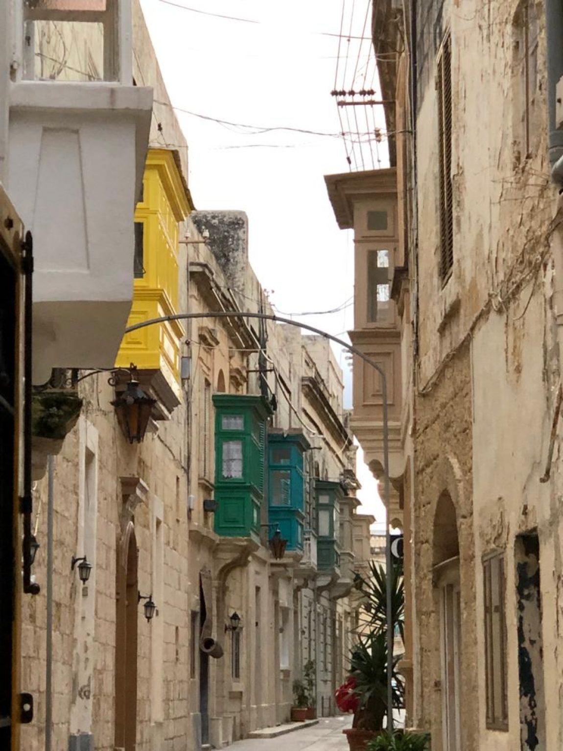 A street in Rabat Town Core